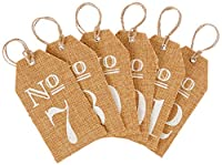 Kate Aspen Burlap Table Numbers: 7 to 12