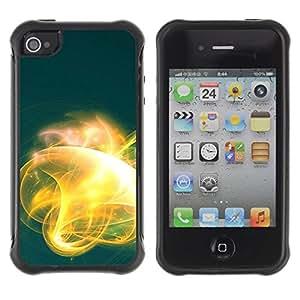 Suave TPU GEL Carcasa Funda Silicona Blando Estuche Caso de protección (para) Apple Iphone 4 / 4S / CECELL Phone case / / Abstract Yellow Glow /