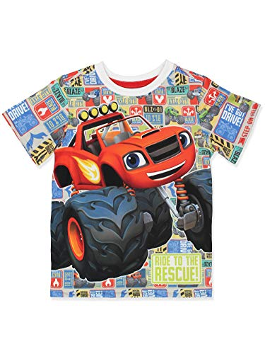 Blaze and The Monster Machines Boys Short Sleeve Tee (4T, Multi)