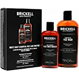 Brickell Men's Daily Essential Face Care Routine I - Gel Facial Cleanser Wash & Face Moisturizer Lotion - Natural & Organic