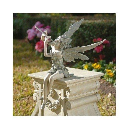 - Fairy Playing the Flute Statue Garden Decor Home Garden Decor Yard Art
