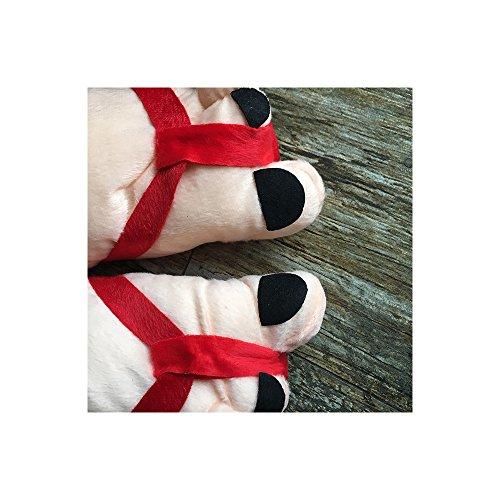 Rojo Inicio Invierno Zapatillas Cosplay Adultos Adultos Mujer para OCHENTA Para Fw6Iq8A