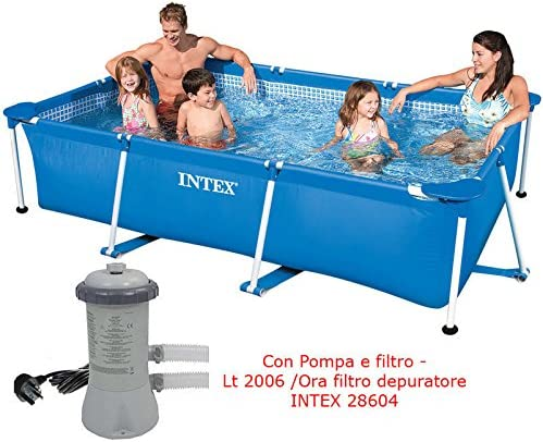 Piscina fuoriterra Frame rectangular 300 x 200 x 75 Intex con ...
