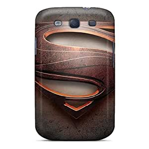 Shock-Absorbing Hard Cell-phone Cases For Samsung Galaxy S3 With Allow Personal Design Vivid Man Of Steel Superman Pictures AlainTanielian