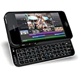 Bluetooth Qwerty Keyboard Sliding Case for iPhone 5/5S - Backlit, Rubberized