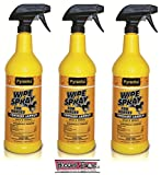 PYRANHA Wipe N Spray Fly Protection Spray For Horses Kills Mosquitoes Flies 3 PACK