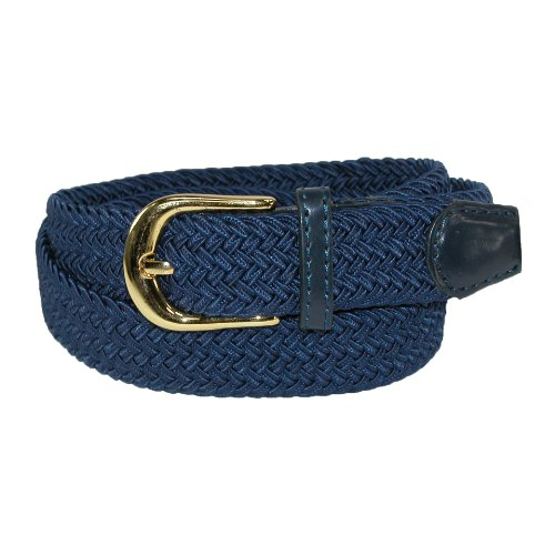 CTM Women's Elastic Braided Stretch Belt