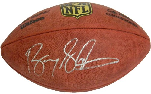 Autographed Nfl Duke Game Football - Barry Sanders Signed Autographed Wilson Duke Official NFL Game Football