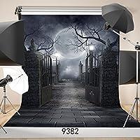 SJOLOON 5ft x 7ft Halloween Vinyl Photo Background Photography Backdrop Moon Night Backdrop Studio Prop 9382