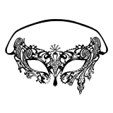 Foxnovo Foxnovo Fashion Luxury Venetian Style Mask Diamante Metal Filigree Masquerade Mask