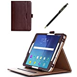 ProCase Samsung Galaxy Tab S2 8.0 Case - Leather Stand Folio Case Cover for 2015 Galaxy Tab S2 Tablet (8.0 inch, SM-T710 T715), with Multiple Viewing angles, auto Sleep/Wake, Document Card Pocket (Brown)