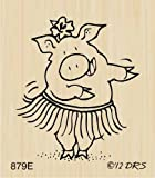 Hula Pig Rubber Stamp By DRS Designs