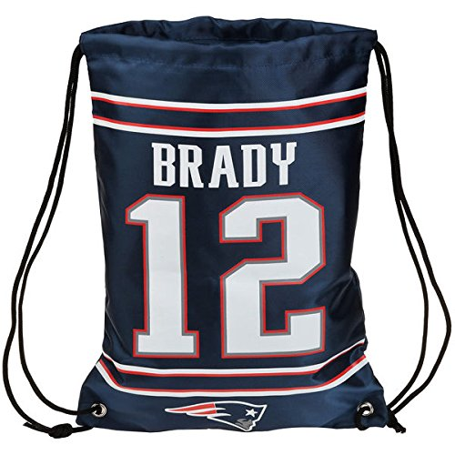 NFL New England Patriots Tom Brady Drawstring Backpack, 18 In. X 13.5 In.