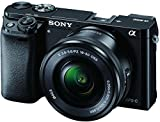 Sony Alpha A6000L 24.3MP Mirrorless Camera (Black) + 16-50mm Lens with Memory Card and Carry...