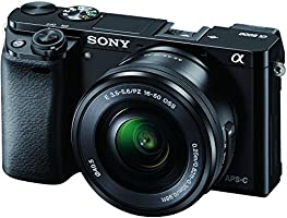 Sony Alpha A6000 with 16-50mm Lens Mirrorless Camera Black