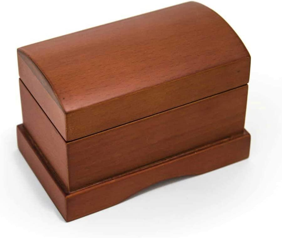 Matte Wood Tone Treasure Chest Simple 18 Note Music Ring Box Blowout - Many Songs to Choose - My Old Kentucky Home