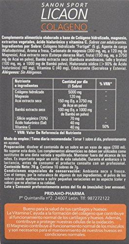 Sanon Sport Licaon Colágeno Hidrolizado - 2 Paquetes de 10 Unidades: Amazon.es: Salud y cuidado personal