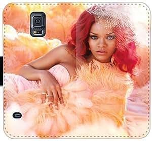 Rihanna Q2Q6N Funda Samsung Galaxy Note 4 Funda de cuero caso del tirón del teléfono celular Funda caja de la carpeta si802h de moda personalizada