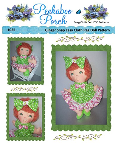 - Ginger Snap Rag Doll Easy Cloth Doll PDF Pattern - Easy PDF Sewing Patterns for Beginners by Peekaboo Porch - Pattern ONLY - Not a Finished Doll