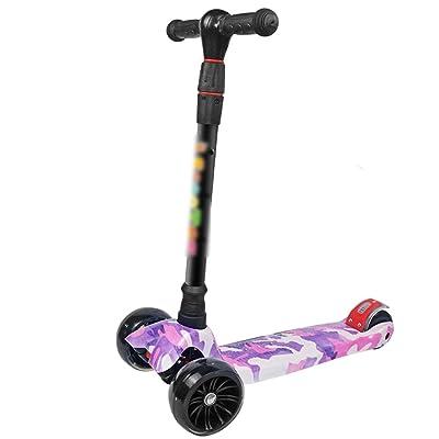 Huifang Trottinettes QFFL huabanche Scooter Trois-roues Débutant Scooter Enfants 3-12 Ans Twist Voiture Flash Poussette Bloc Coulissant 2 Couleurs En Option