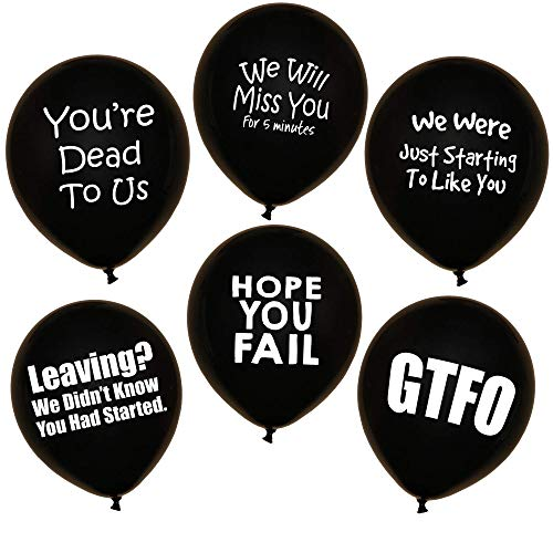ROFLmart Funny Coworker Going Away Last Day Office Party Decorations Balloons 18 Pack -