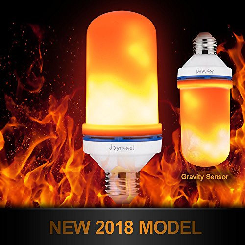 LED Flame Effect Light Bulb,105pcs 2835 LED Light,Joyneed-Flame Fire Bulb,Upside Down Nature Fire Simulated Atmosphere Lighting Effect, for Festival,Dating, Party (1 Piece Flame Bulb)