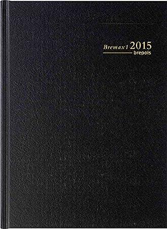 Brepols - Bremax 1 Agenda Journalier - Couverture Noire 1 jour par page 21 x 29 cm Année 2019