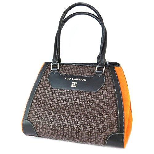 La bolsa 'Ted Lapidus'marrón naranja - 35x29x14 cm.