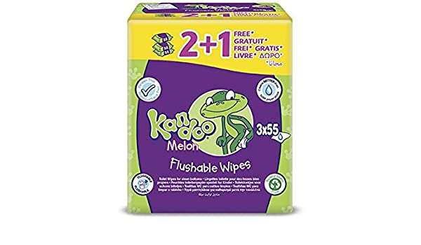 Pampers Kandoo Magic Melon Toilet Wipes, 3 x 55 Wipes (165 Wipes) by Pampers: Amazon.es: Salud y cuidado personal