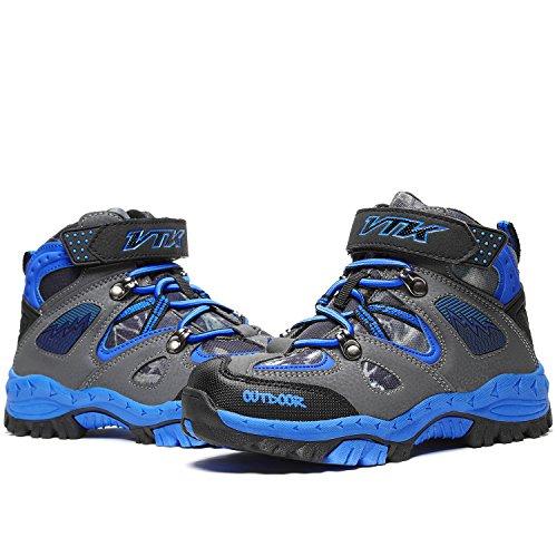 Kids Hiking Shoes Walking Snow Boots Antiskid Steel Buckle Sole Winter Outdoor Climbing Cotton Sneaker by littleplum (Image #6)