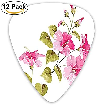 Amazoncom Tropic Wild Hibiscus Flower Branch With Fresh Leaves