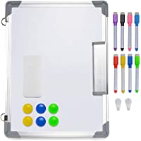 Magnetic Whiteboard, 11.8 X 15.7 Inches Magnetic Dry Erase Board with 1 Dry Eraser, 6 Magnets, 8 Dry Erase Markers…