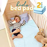 Kids Bed Pad - Waterproof Mattress Protector 47'x 36', Reusable Toddler Bed Pads for Potty Training, 2-Pack