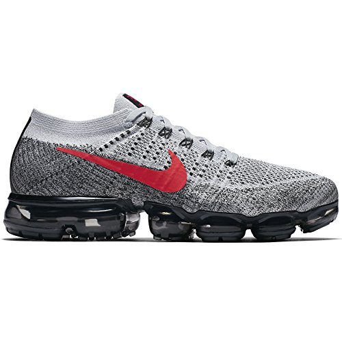 NIKE Mens Air Vapormax Flyknit Black/Anthracite Flyknit Pure Platinum/Red V1Hsi5i