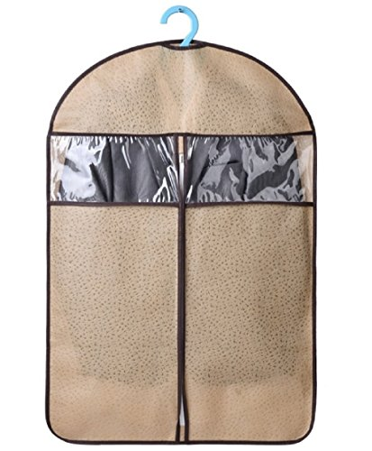 [RoseAmor Breathable Non-woven Clothes Dust Cover Bag Garment Storage Bags With Clear Window for Suits (L,] (Rolling Dance Costumes Carrier)