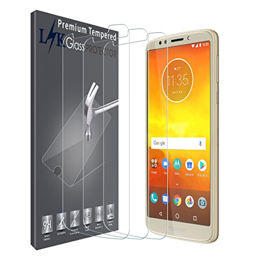 LK [3 Pack] for Motorola Moto E5 Screen Protector, Tempered Glass HD Clarity, Bubble Free, Case Friendly [NOT Fit for Moto E5 Plus]