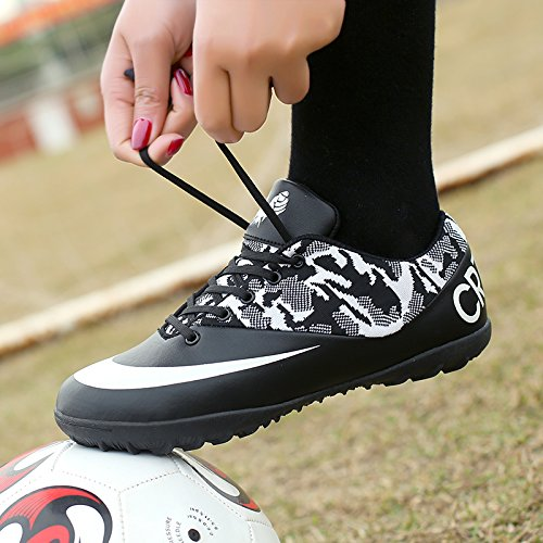 Xing Lin Zapatos De Fútbol Nueva Chica Del Fútbol Zapatos Uña Rota Spike Césped Artificial Desgaste Deslizante Pequeño Código De Formación Estudiantil Zapatos Infantiles black