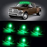 CCIYU Cab Marker Light 5X Green T10-6-3020-SMD Top Clearance Roof Running Bulbs with 5X Smoke Cab Roof Light Covers Replacement Cab Marker Assembly for Lexus Lincoln Mercedes-Benz Toyota etc