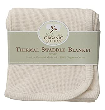 84c6f9d9e9 Amazon.com   American Baby Company Organic Cotton Thermal Receiving Blanket    Baby