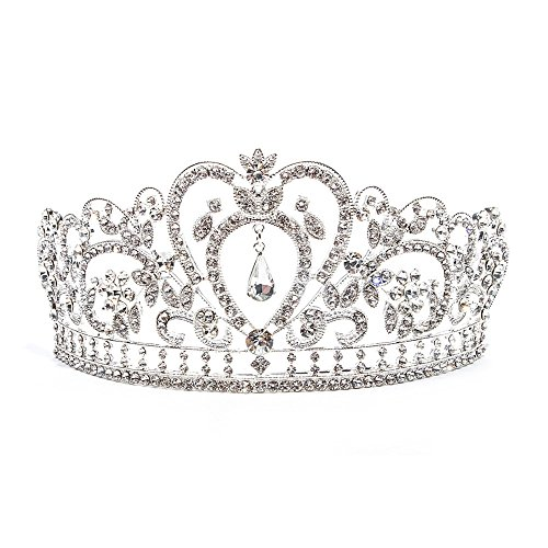 Baroque Clear Rhinestone Crystal Tiara Crown -