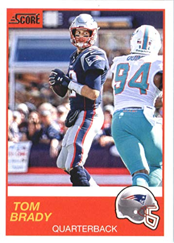 2019 Score Football #142 Tom Brady New England Patriots Official NFL Trading Card From Panini