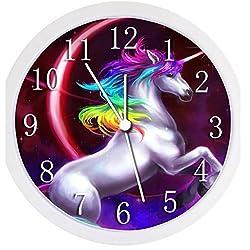 Glow In the Dark Wall Clock - Unicorn