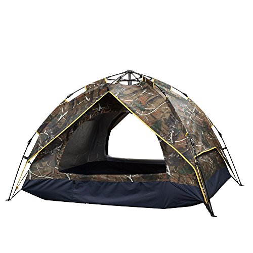 Camo Dome Tent (iMOGGEN backpacking tents for camping 2 person automatic double layer waterproof dome tent(camouflage and green options) (Camouflage))
