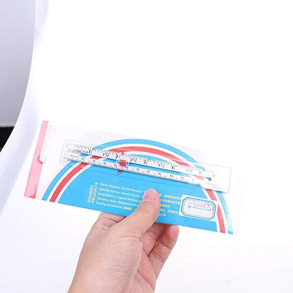 15 cm de m/últiples Funciones del Metal Mano Medida Herramienta Regla de la Medida de Tejer Chrochet de Costura de la Regla de la Pieza Central del Dispositivo