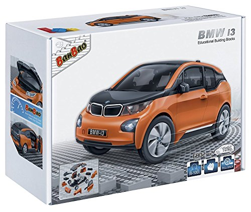 banbao-6802-2-bmw-i3-orange-construction-set-98-pcs-1-24-miniature-toy-bmw-officially-licensed-produ