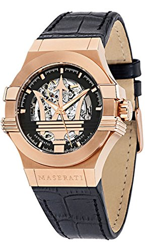Maserati Men's Potenza R8821108002 Rose Gold Leather Automatic Watch