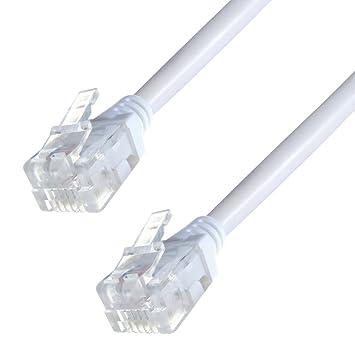 Cable ADSL de alta velocidad RJ11 2 m, 3 m, 5 m, 10