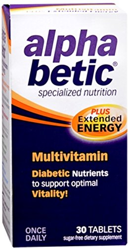alpha betic Multi-Vitamin Caplets 30 Caplets (Pack of 8) by Alpha Betic