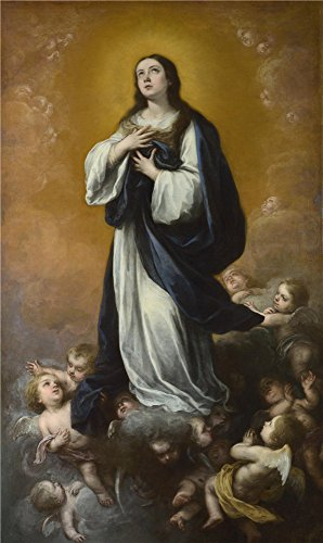 Oil Painting 'Bartolome Esteban Murillo, Studio- The Immaculate Conception Of The Virgin,17th Century' 24 x 40 inch / 61 x 102 cm , on High Definition HD canvas prints, Kids Room, Living Room, decor