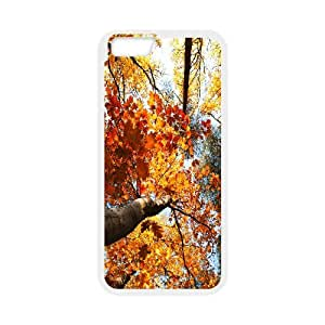 Golden Trees IPhone 6 Plus Cases, Protective Case for Iphone 6 Plus Non Slip Okaycosama - White